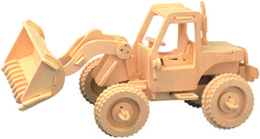 Free shipping ---2016 year forklift 3 d wooden simulation stereo DIY assembly model educational toys