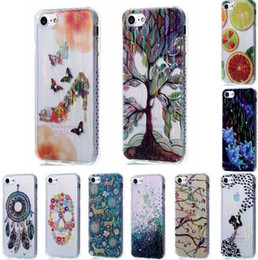 Wholesale For iphone iphone7 iphone7plus th Beautiful Brush Girl Deer High heeled shoes Dream catcher case Soft TPU Phone Case Cover