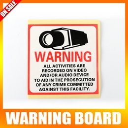 Wholesale 20Pcs Waterproof Sunscreen PVC Home CCTV Surveillance Security Camera Video Sticker Warning Decal Signs mm