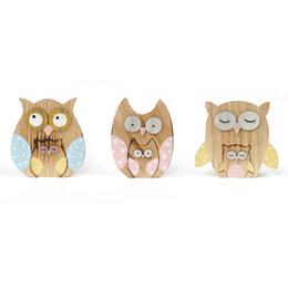 2016 nouveau matriochka owl décoration 3Réglez / lot hulotte décoration poupées journal artisanat décoration 14 * 11 * 2cm décor de fête fournitures à partir de maisons en rondins de bois fabricateur