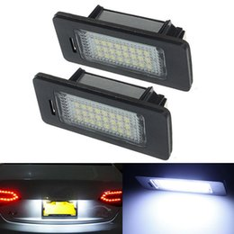 Wholesale 2Pcs Error Free LED License Number Plate Light Lamps Bulb fit for Aud i A4 B8 S5 S4 Q5 TT TT RS Volkswagen VW Passat D R36