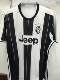 Wholesale Thai quality A Juventus home MARCHISIO HIGUAIN soccer jersey DYBALA fans version Juventus Football Shirts