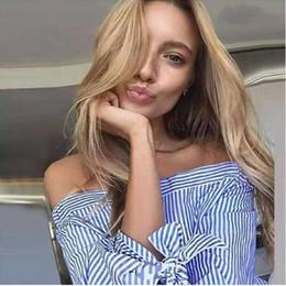 Collar sleeve bandage bow striped shirt blouse