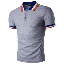 Short Sleeve T-shirt Slim Fashion Men's Summer Short Sleeve Tops 2019 Hot Sales Casual Men's Polos