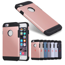 Double Color TPU + PC Slim Armor Shockproof case for iPhone 6 6s
