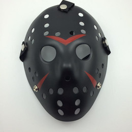 Wholesale Black Red Jason Mask Cosplay Full Face Killer Mask Jason vs Friday Horror Hockey Halloween Costume Scary Mask