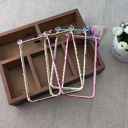 Wholesale Mickey tassel metal frame apple diamond frame plus case bezel set auger following