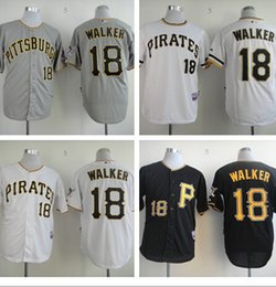 Promotion maillots de sport # 18 Neil Walker Jerseys. Pittsburgh Pirates cool base-ball Maillots de sport Maillots de broderie Logos