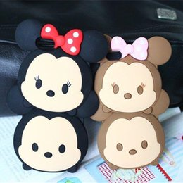 Cute Doll Cell Phone Cases Lovely Cartoon Black Brown Phone Cover Case for iphone 6s 6plus 5S 47