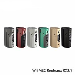 Wholesale 100 Authentic Newest Wismec Reuleaux RX2 Mod Upgraded RX s Reuleaux RX2 From China Supplier