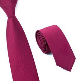 Hot Sale! 1 Piece Fashion Slim Ties For Men Wedding Party Brand Necktie Skinny Colors 6cm Red Corbatas E-011