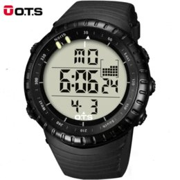 Wholesale Christmas Gift Top Brand OTS Cool Black Mens Fashion LED Digital Swimming Climbing Outdoor Smart Watch Man Sports OTS Watches