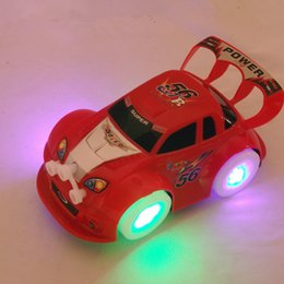 Wholesale Electric Assembly Wheel light car Moving Flashing light Sounds Automatic steering for Child Toys nuobeile005