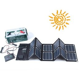 Wholesale Solar Battery Charger Dc - 40W Foldable Solar Panel Battery Charger with Dual-port (18V DC&5V USB) Output for Travel,Hiking,Camping Compatible with Laptop,Tablet