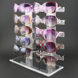 Wholesale LHLL Pair Acrylic Sunglasses Glasses Retail Shop Display Unit Stand Holder Case