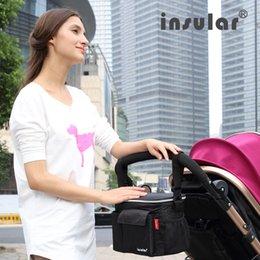 Wholesale Thermal Insulation Baby Diaper Bags Waterproof Mommy Bag Stroller Bag Cooler Bag
