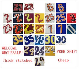 Wholesale Mixed order Stitched Men basketball jersey tshirts authentic style thick stitched cheap basketball tshirts New Material