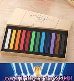 Wholesale Color Hair Dye Set - Hot Fashion Healthy Crayons For Hair 12 Color Fast Non-toxic Temporary Pastel Hair DIY Painting Extension Dye Chalk 12pcs set MYY