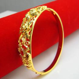 Do not fade gold 24K gold plated bracelet female imitation gold bracelet bracelet 999 wedding jewelry shopping in Hongkong