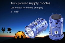 Wholesale LED Rechargeable Camping Light Lantenrn Long lifeTent Light Outdoor Lighting Emergency Camp Lamp Torch Flashlight Cycling Tool