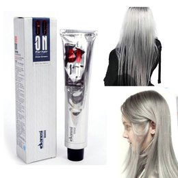 Wholesale 2016 new ML Hair Color Cream Light Grey Color Permanent Super Hair Dye Non toxic Personalized Color for DIY Hair Style Cream Light