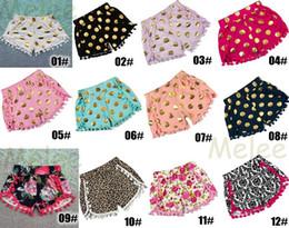 12color choose 0-8years Baby Toddler Shorts zebra Leopard Print Pom Pom Shorts Cheetah Animal Print girls tassel fringe short baby bloomers