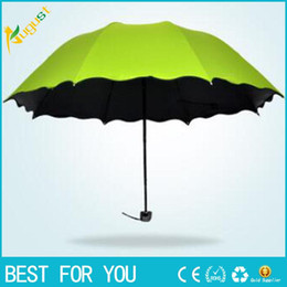 Wholesale Male Female umbrella three Folding Rain Travele light Aluminium color to select Women Men high quality cheap fashion umbrellas