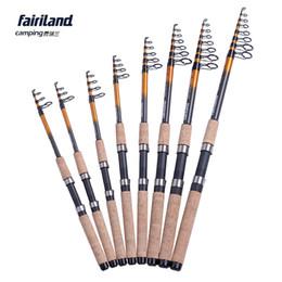 Wholesale 8pcs Lot Fairiland Portable Carbon Telescope Fishing Rod Spinning Rod 6 7 8 9 10 12 14 15ft travel fishing pole