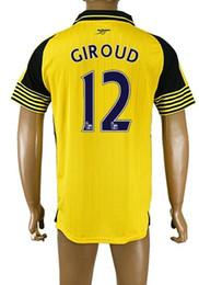 Wholesale Hot Popular Customized Thai Quality Arsenal away men GIROUD Soccer Jerseys Shirts Tops NEW men RAMSEY WILSHERE Soccer Jerseys