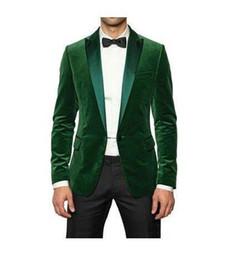 Wholesale TOP quality Peaked lapel Green Corduroy Men Suits Western Best man Groomsman tuxedo Wedding Suits for Groom jacket pants