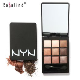 Rosalind Professional 9 Color Eyeshadow Makeup Eye Shadow Palette,Super Flash Eyeshadow Kits High Quality by NYN