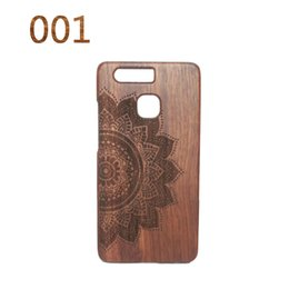 Wholesale Original Natural Bamboo wood Phone Cases For Huawei P9 Hard Back Cover Case Capa Shell Cover Accessories Housing