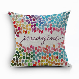 imagine cushion cover sunshine happy love cojines english letter sofa throw pillow case quote almofada modern home decor