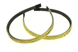 """30pcs 10mm (3 8"""") Glitter Lined Headband with Teeth - Hair Accessories"""