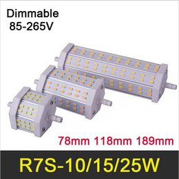 Lampe HOT R7S LED 10W Ampoule 15W 78mm 118mm 25W 189mm SMD5730 85-265V Lampada LED R7S Lumière dimmerable Remplacer lampes halogènes halogen lamp 15w led deals à partir de lampe halogène 15w conduit fournisseurs