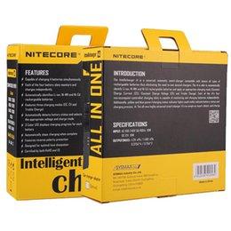Wholesale 100 original Nitecore I4 Digicharger Pantalla LCD cargador de batería universal cargador Nitecore i4 VS Nitecore i2 D2 D4 UM10 UM20 NUEVO