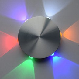 Round aluminum 6W Warm White Natural White Cold White Red Green Blue Purple LED indoor wall lamp 6*1W setting wall lights AC85-265V