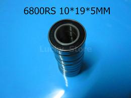 6800RS rodamientos 6800 6800RS 10 * 19 * 5 mm de acero cromado ranura profunda rodamiento caucho sellado rodamiento de pared fina 61800 desde rodamientos 5mm fabricantes