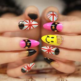 Quality 3d pearls fake nails 3x24Pcs Lot False Nail tips mixed colors full cover nail tips Pre Design Nails Art Decortion finger nail tips