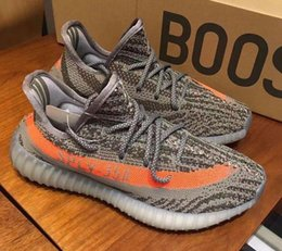 Wholesale Double box Best Quality Boost V2 boost Beluga Grey Red Sneakers Training Shoes V2 Socks Bag Receipt Boxes