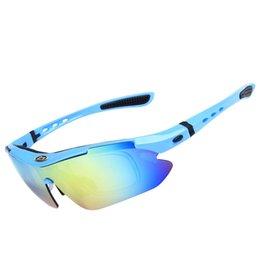 Acheter en ligne Le sport pc-5 paires Lentilles Set Sports Cyclisme Lunettes Goggles Outdoor Lunettes de protection anti-éveil Lunettes de soleil à vélo tout-terrain 2016