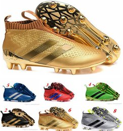 ACE 16+ PureControl FG 2016 NEW Men's Soccer Shoe boots cheap original Performance Mens soccer cleats football shoes Free Shipping