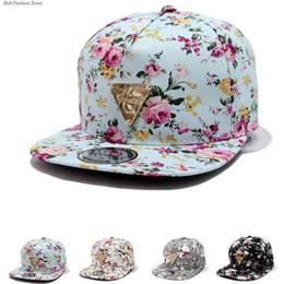 2017 Fashion Hip-Hop Hat Baseball Cap Floral Flower Snapback Flat Peaked Adjustable 4 colors to ukraine also 50