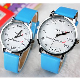 Fashion Creative Mens Watch Leather Band Woman Casual Quartz Digital Watches Loves Dress Watch for Man(Big= Man,Small=Woman)