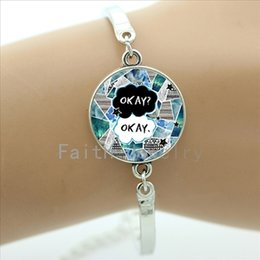 Wholesale Maybe Okay Will Be Our Always bracelets various art fonts Book Quote charm bracelet The Fault in Our Stars jewelry NS407