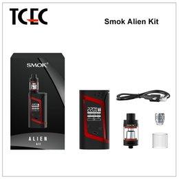 Wholesale Authentic SMOK Alien W Starter Kit Alien Box MOD whit ml TFV8 Baby Beast Tank V8 Baby Q2 Baby T8 Coil vs H PRIV kit
