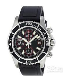 2014 top brand watche Luxury In Box Aeromarine Superocean II Steel Chronograph Quartz Mens Watch Date Mens Sports Watches