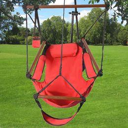 Wholesale Outdoor Indoor Hammock Hanging Chair Air Deluxe Swing Chair Solid Wood lb