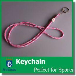 Wholesale 2016 NEW WOMEN Pink LANYARD KEY CHAIN breast cancer awareness LANYARD