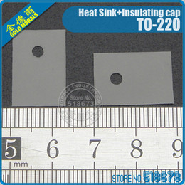 100Pair lot Insulation Bushing Silicon Rubber Pad For TO-220 Package Heat Sink + Insulating cap